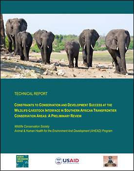 Constraints to Conservation cover
